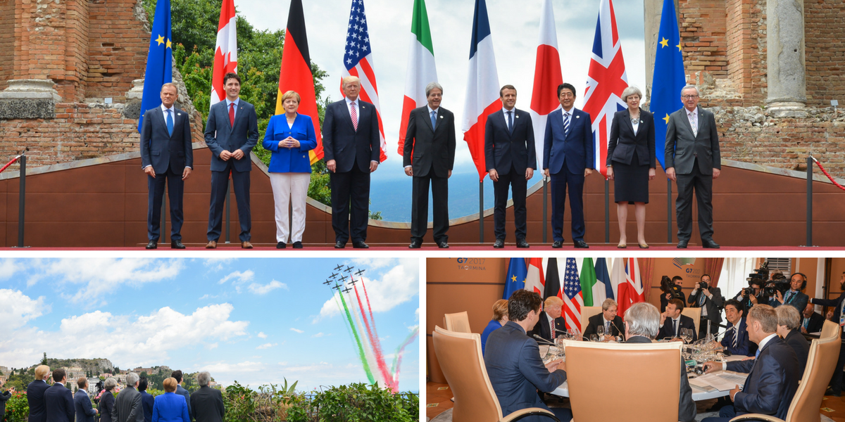 The G7 in Taormina has begun