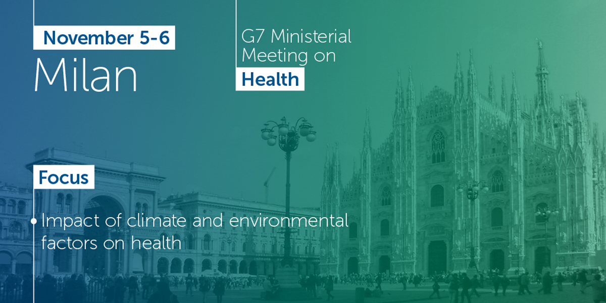 G7 Ministerial Meeting on Health: discussion will focus on the crucial topics of global health