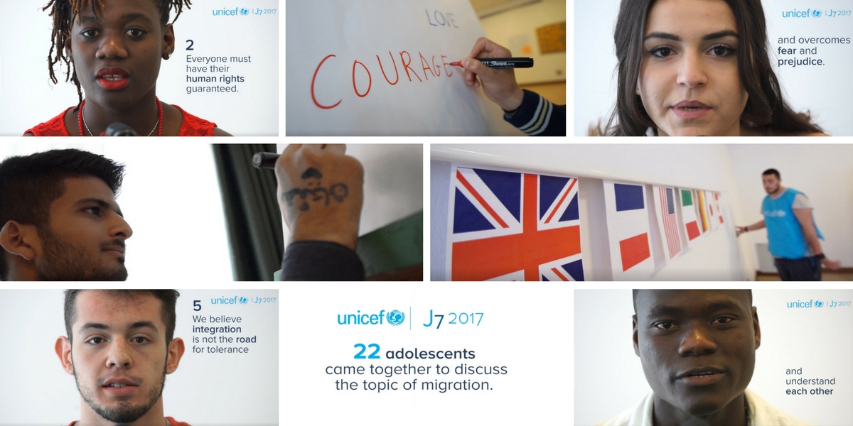 Young people of the J7 send a message to the G7