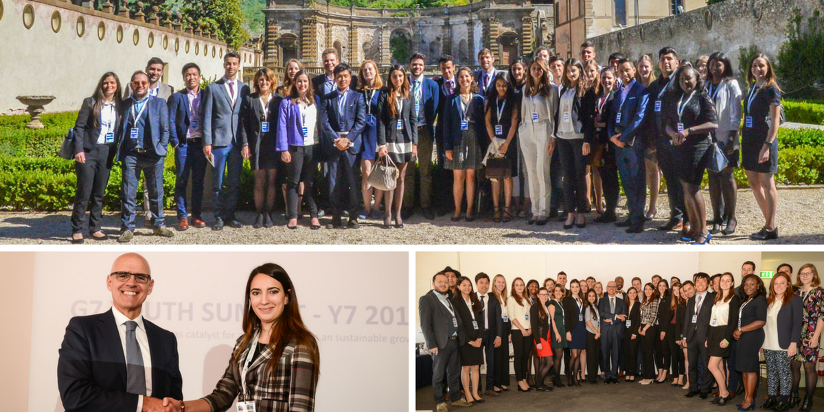 Delegates of the Youth 7 delivered their proposals to the G7