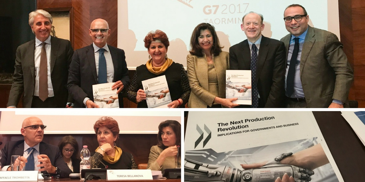 "The OECD launched the Report ""The Next Production Revolution"""