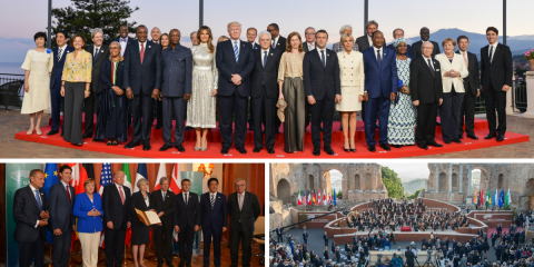 The first day of the G7 Taormina has come to an end