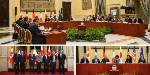 15th Conference of Presidents of the G7 Lower Houses in Rome. Focus on preventing and countering terrorism.